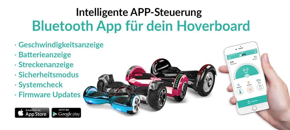 hoverboards mit app kaufberatung smartway hoverboard. Black Bedroom Furniture Sets. Home Design Ideas