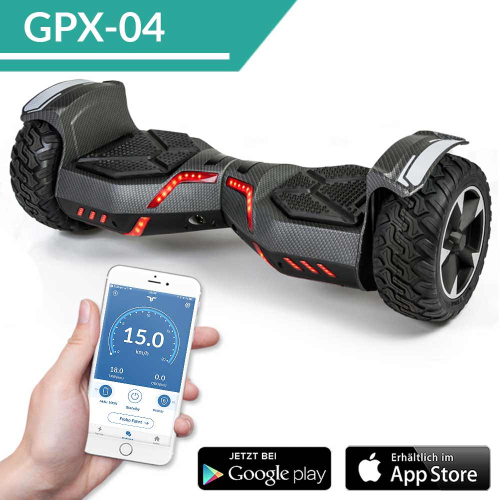 hoverboard suv ares 8 5 800 watt mit app ab bereits 279. Black Bedroom Furniture Sets. Home Design Ideas