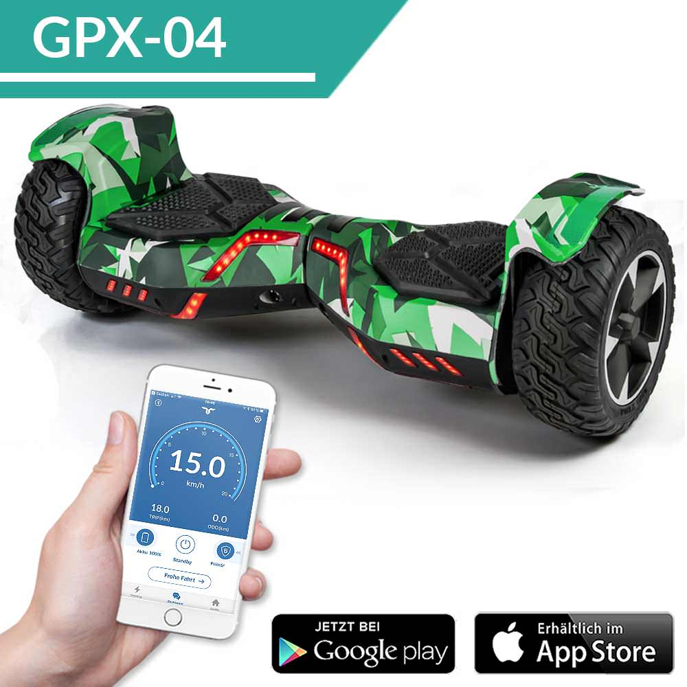 hoverboard suv ares 8 5 800 watt mit app ab bereits 249 kaufen. Black Bedroom Furniture Sets. Home Design Ideas