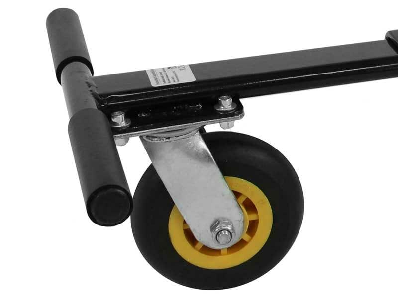 "großes 6"" Vorderrad - Vollgummibereifung"